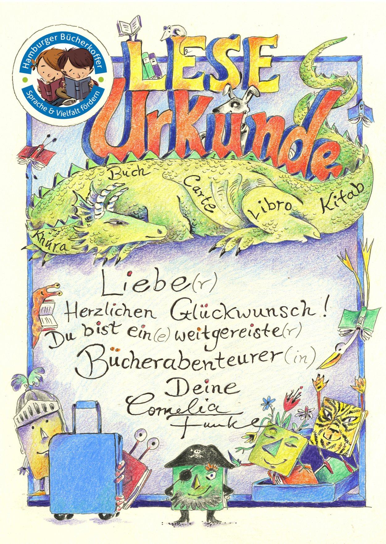 Leseurkunde Cornelia Funke
